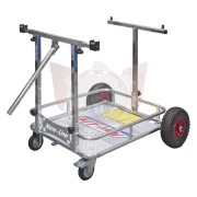 CHARIOT DE PISTE PORTE KART CHROME RENFORCE NEW LINE